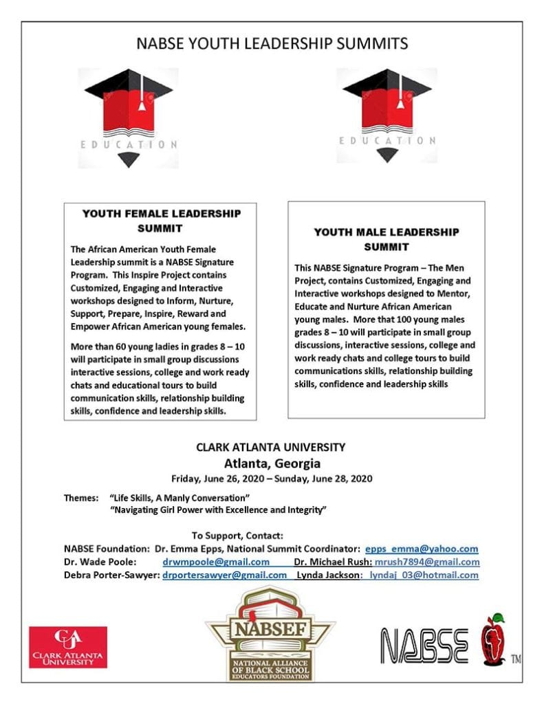 NABSE YOUTH LEADERSHIP SUMMITS - June 2020