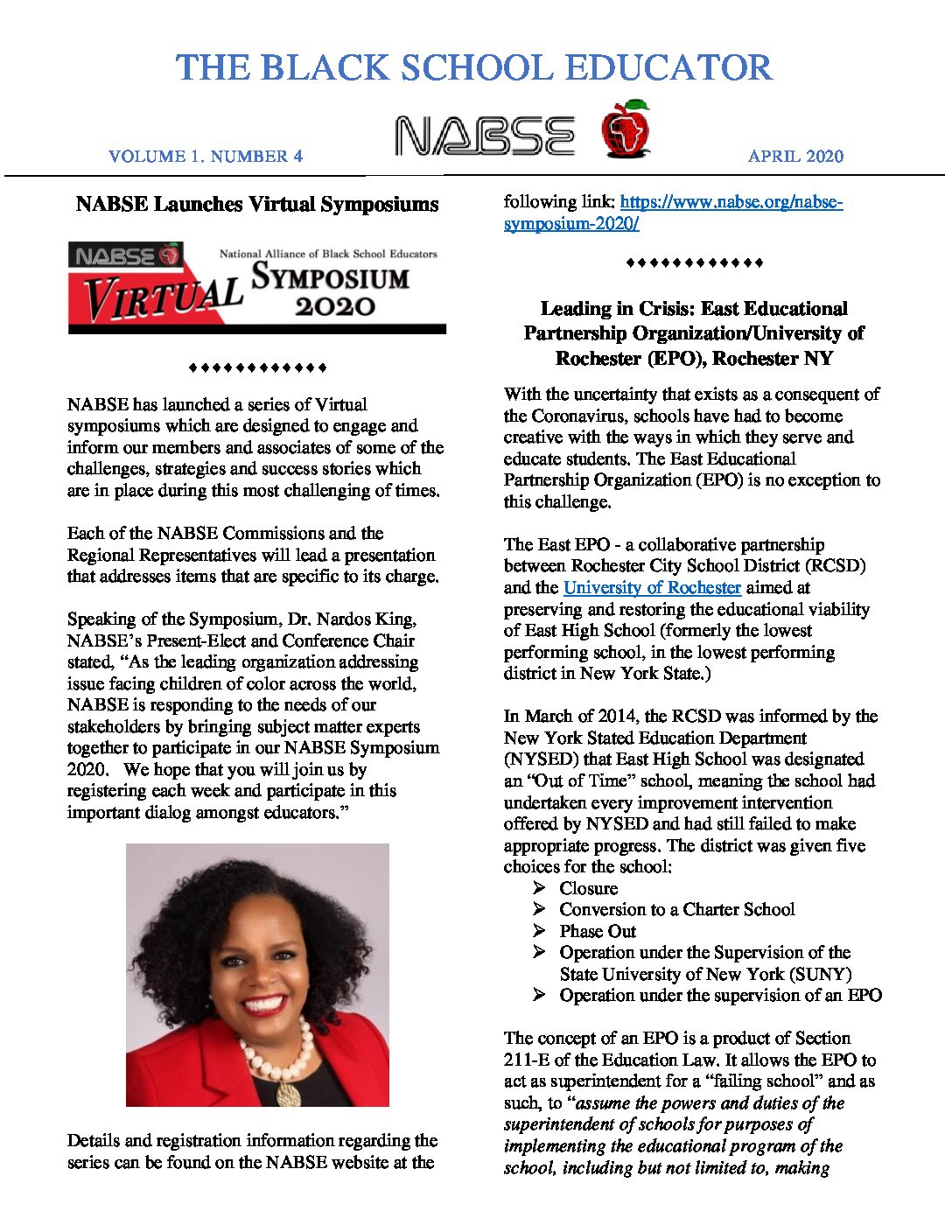 NABSE April 2020 Newsletter