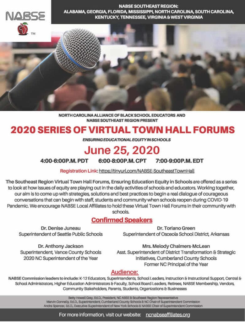 2020 Series of Virtual Town Hall Forums -NABSE Southeast Region (with Registration Link)