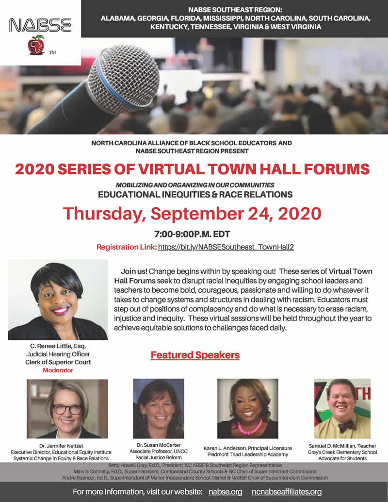 2020 SERIES OF VIRTUAL TOWN HALL FORUMS - SEPTEMBER 24, 2020