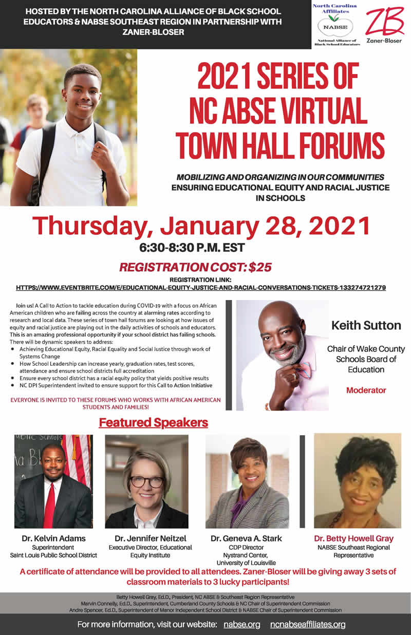 2021 SERIES OF NC ABSE VIRTUAL TOWN HALL FORUMS