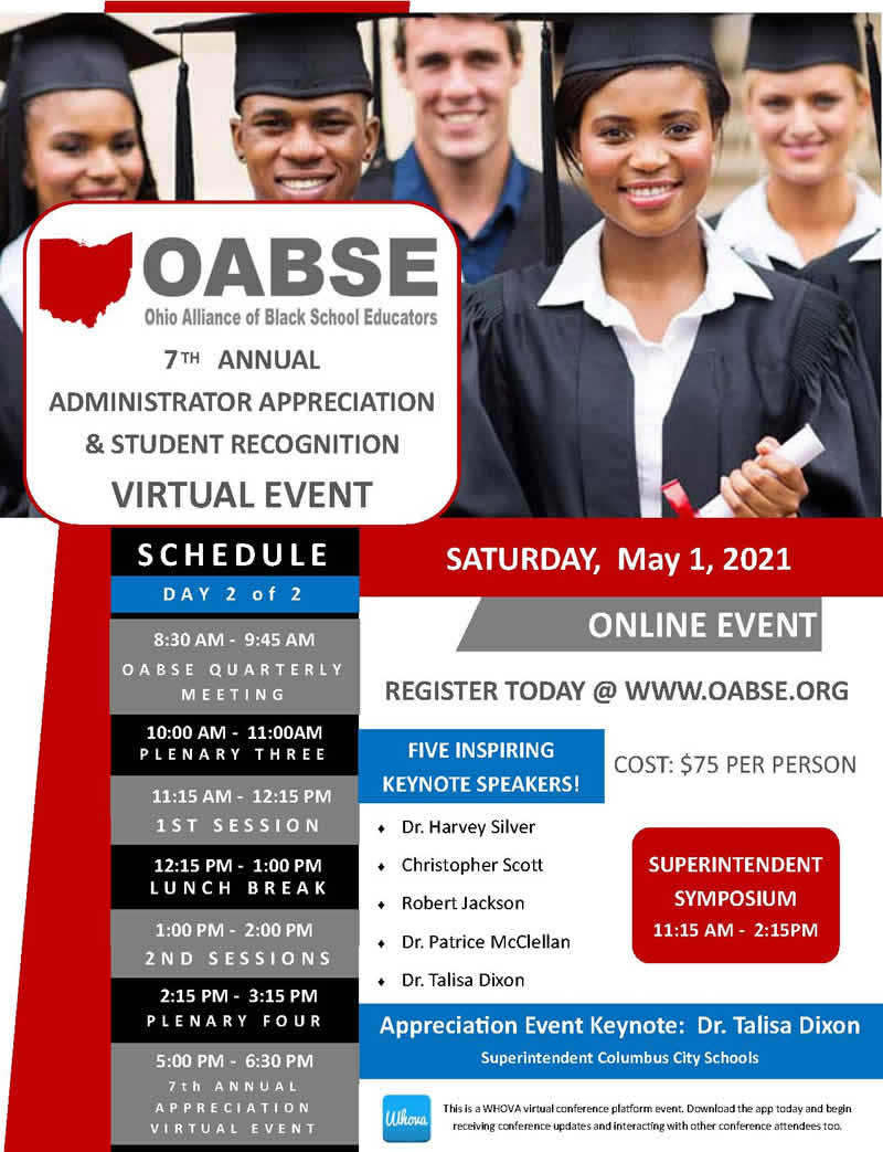OABSE 7th Annual Administrator Appreciation & Student Recognition @ Virtual