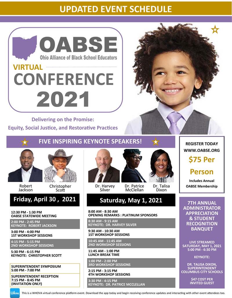 OABSE Virtual Conference 2021 @ Virtual