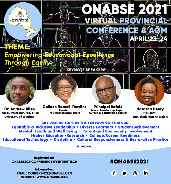 ONABSE 2021 Virtual Provincial Conference & AGM @ Virtual Conference